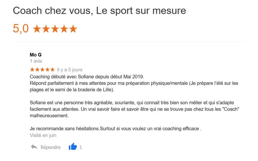 avis-google-coach chez vous-physique-mental-coach sportif